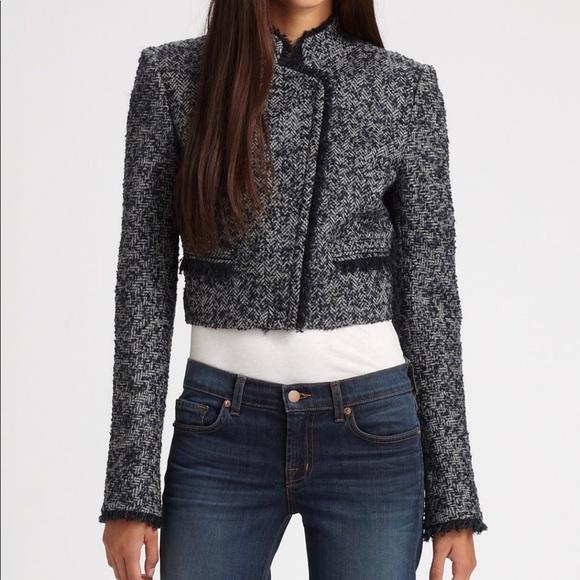 b5687ee1b0 Theory Jackets & Coats   Cropped Tweed Jacket   Poshmark